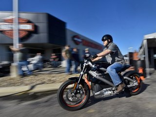 A peek at Harley-Davidson's electric motorcycle