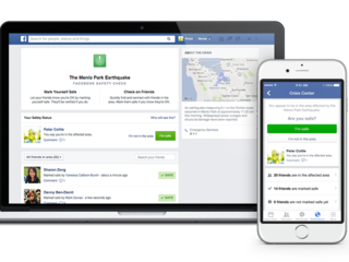 Facebook tells friends you're OK after disaster