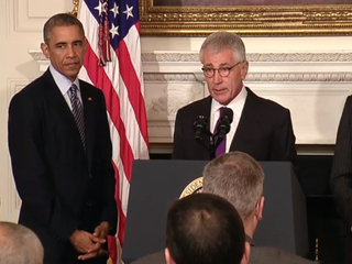 Hagel: I will continue to support Obama