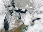 How are the Great Lakes still causing lake snow?