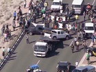 Donald Trump protesters block traffic in Arizona