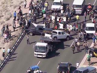 Donald Trump protesters block traffic in Arizona