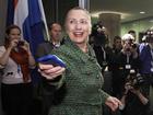 Clinton says IG report won't affect bid