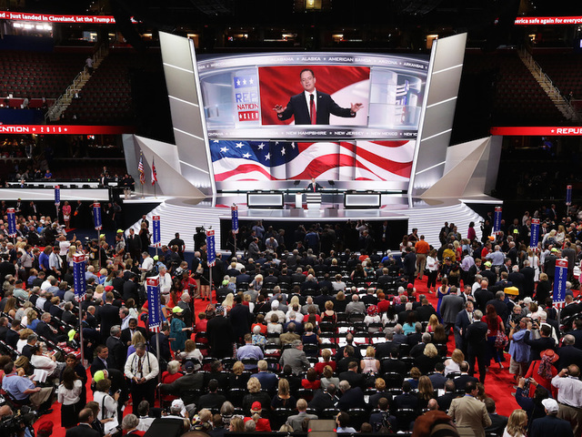GOP leaders approve convention rules, block insurgents