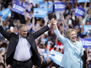 Clinton says VP pick Kaine gets things done