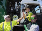Boy's wish to be a garbage man granted