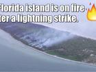 WATCH: Wildfire burns a Florida Key