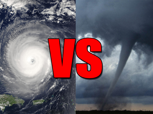 hurricanes versus tornados Even though winds from the strongest tornadoes far exceed that from the  strongest hurricanes, hurricanes typically cause much more damage individually  and.