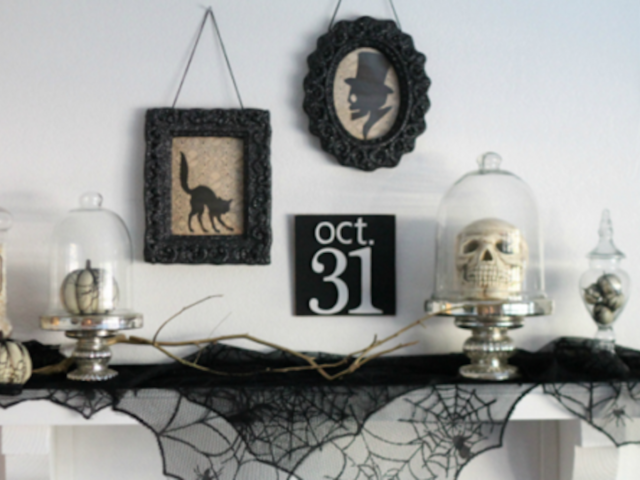 10 chic diy halloween decorations for the most adult halloween fans - Chic Halloween Decor