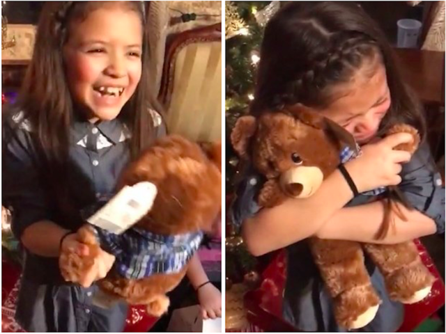 Girls receive customized teddy bears with late grandpa's voice for Christmas