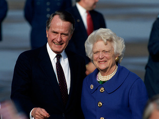 George and Barbara Bush's condition improving