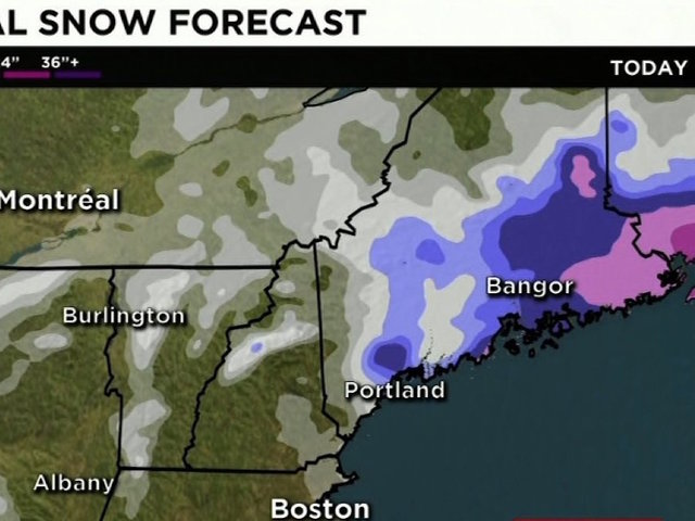 Snowstorm pounds the Northeast, canceling flights, closing schools