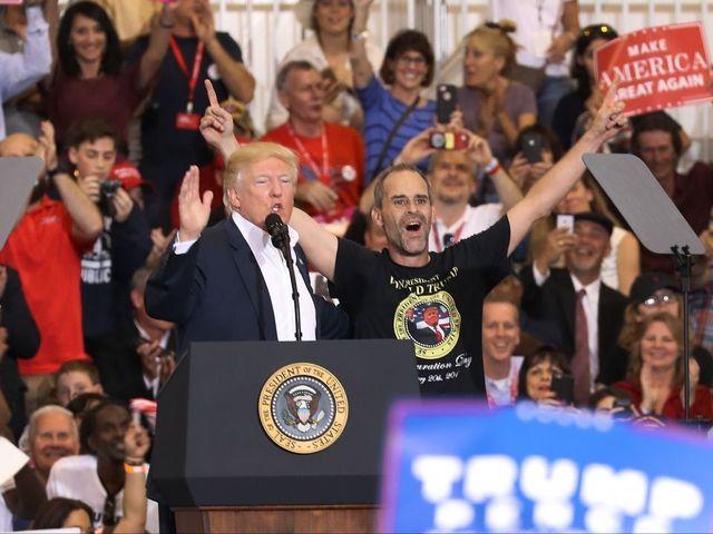 Trump surprises 'yuge' fan at Florida rally