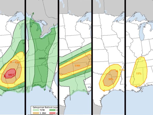 Severe weather for the end of April 2017
