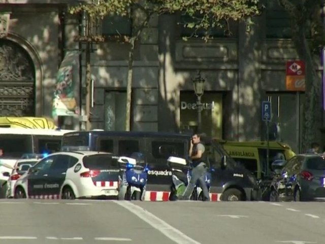 Suspected driver in Barcelona attack shot dead