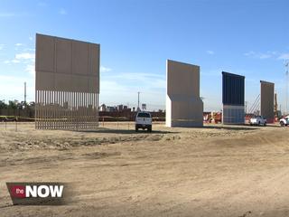 A peek at Trump's wall prototypes