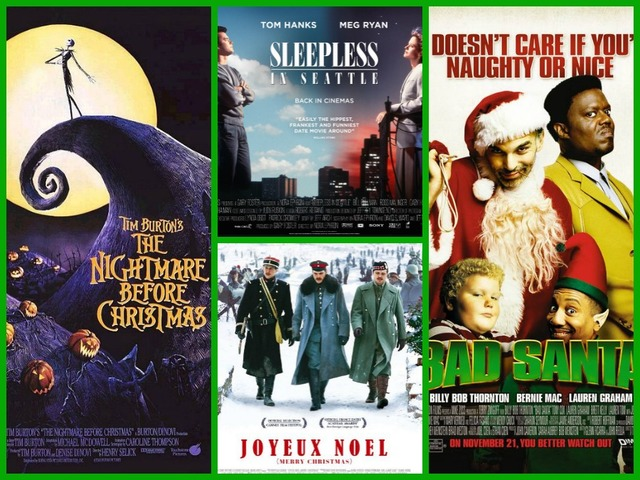 movie posters for the following films clockwise from left the nightmare before christmas walt disney pictures sleepless in seattle tristar - Best Netflix Christmas Movies