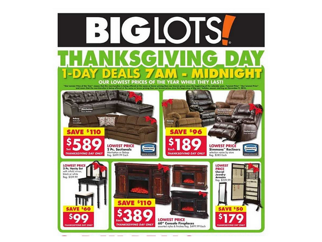 Furniture Part Of Big Lots Black Friday Deals