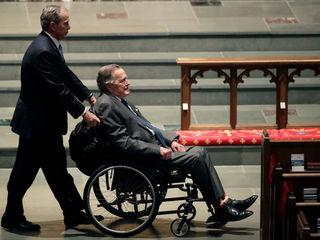 President George H.W. Bush hospitalized