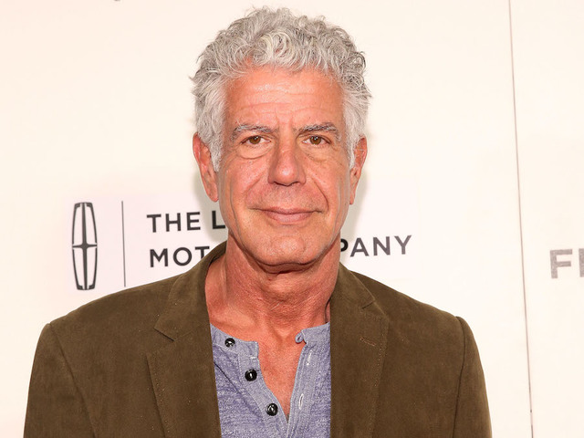 New York Ny April  Anthony Bourdain Attends Wasted The Story Of Food Waste Premiere During  Tribeca Film Festival At Bmcc Tribeca Pac On April