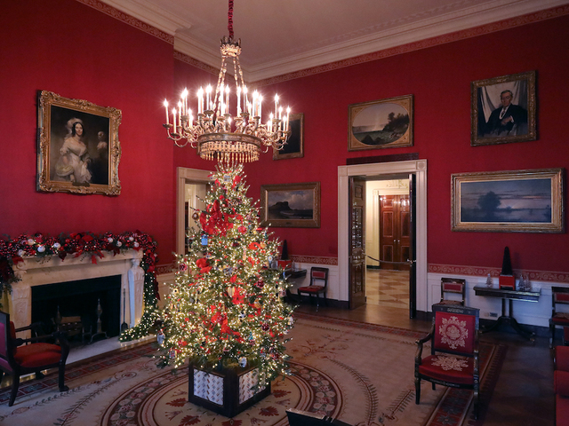 carrying first lady melania trumps be best initiative the red room is decorated to celebrate children through the dcor which displays ways in which